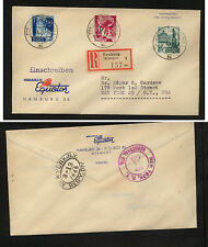 Germany  5N22-24  on  registered cover to  US  1949        MS0305