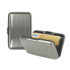 Business Card Holder ID Wallet Credit Card Aluminum Metal Waterproof Silver ZM