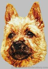 Large Embroidered Zippered Tote - Norwich Terrier DLE2494