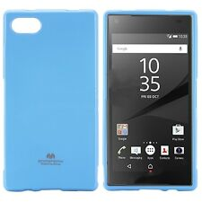 Korean Mercury TPU Case Cover for Sony Xperia Z5 Compact Light Blue Free SP