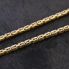 Gold Kette Königskette 750er Gelbgold 18 Karat, 80,00cm lang, Handarbeit, endlos