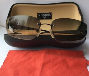 Beautiful Preowned Genuine CC CHANEL Ombre Sunglasses L5735466 Box &clean Cloth