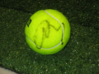 ANDY MURRAY HAND SIGNED TENNIS BALL UNFRAMED + PHOTO PROOF + C.O.A