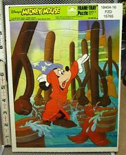 MICKEY MOUSE frame tray puzzle 1970s Fantasia sorcerer's apprentice Whitman