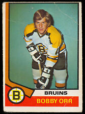 1974 75 OPC O PEE CHEE #100 BOBBY ORR BOSTON BRUINS VG Cond HOCKEY CARD HOF
