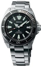 New Seiko Automatic Prospex Samurai Divers 200M Mens Steel Bracelet Watch SRPB51