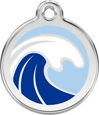 Wave Enamel/Solid Stainless Steel Engraved ID Dog/Cat Tag