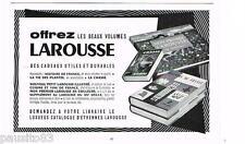 PUBLICITE ADVERTISING 105  1954  LAROUSSE   encyclopédie dictionnaire histoire