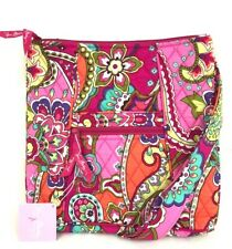 Vera Bradley Hipster Crossbody Messenger Shoulder Bag Handbag Pink Swirls New