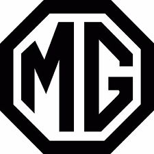2 x MG Logo Vinyl Cut Sticker Decals 100x100mm - FREE UK DELIVERY MGB MGBGT MGV8