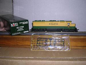 "KATO #37-1709  Reading ""Bee Line"" EMD SD-45 Diesel Loco No #  DC Operation"