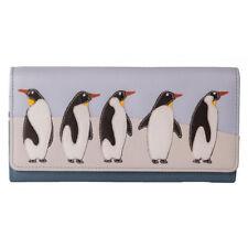 Mala Leather Ollie 5 Penguins Flap Over Purse - RFID - BNWT
