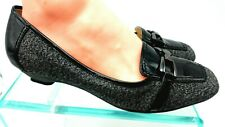 Woman's Anne Klein Iflex  Leather Loafers Black White Shoes 10M    1009