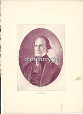 1897 CIVIL WAR Portrait Print of HENRY CLAY Southern Secretary of State