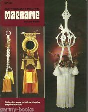 Easy Elegant Practical Macrame Lynn Paulin Vintage Pattern Instruction Book NEW
