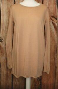COS Sweden Ladies Merino Wool Silk Buttons Back Tunic Jumper Sweater M / Medium
