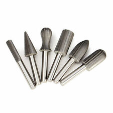 6 X Tungsten Steel Carbide Burrs For Rotary Drill Bits Die Grinder 6mm Shank New