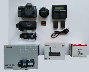Canon EOS 5d Mark III mit Objektiv EF 50mm f/1,4 +….