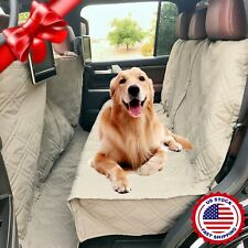 Deluxe Quilted and Padded Car Seat Cover For Dog Pet Extra Length Coverage Taupe