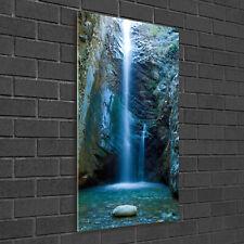 Wandbild Kunst-Druck auf Hart-Glas hochkant 50x100 Ara Papagei