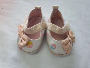 Babies Shoes Canvas White Cream Age 0 3mths Matalan