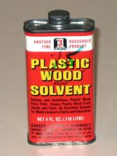 Vintage 1967 PLASTIC WOOD Brand SOLVENT Advertising Tin Oil Can! Boyle-Midway!