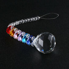 1pc Sun catcher Sphere Ball Hanging Crystal Rainbow Prism Feng Shui Mobile Drops
