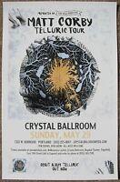 MATT CORBY 2016 Gig POSTER Portland Oregon Concert