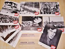 REVOLUTION D' OCTOBRE ! f rossif , lenine  jeu 20 photos cinema lobby cards 1967