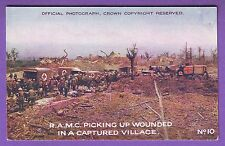 MILITARY WWI DAILY MAIL BATTLE PICTURES RAMC & WOUNDED ADVERTISING POSTCARD