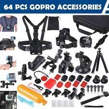 64Pcs Accessories Pack Camera Mount Kit for Gopro Hero 5 4 3 3+ 2 1 SJCAM Xiaomi