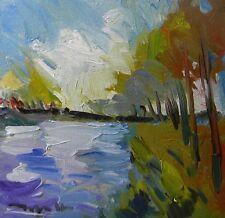 """JOSE TRUJILLO ORIGINAL OIL PAINTING MODERN IMPRESSIONIST 12"""" Square Canvas COA"""