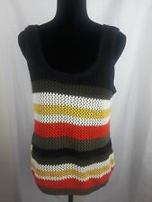 Cato Womens Tank Top Knitted Stripped Size L Large Career Top