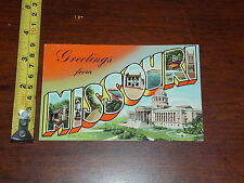Postcard Rare Vintage Greetings From Missouri 1950 Curt Teich