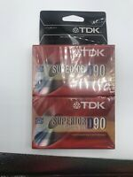 2 PACK TDK D90 Blank Audio Cassette Recording Tape 90 Minutes NEW SEALED