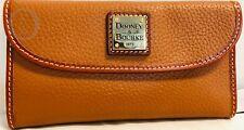 Dooney & Bourke Caramel Leather CONTINENTAL Clutch Wallet