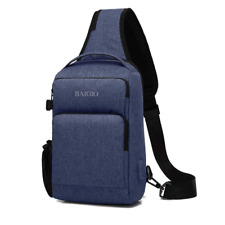 Sling Bag, Casual Sports Daypack Men's Cross Body Ipad Chest Bags with USB Port