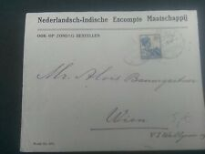 Nederlands Indie 121 enkel op brief van Weltevreden - Wenen OOK OP ZONDAG BEST.