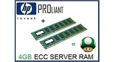 4GB (2x2GB) de RAM upgrade de memoria ECC para servidor HP Proliant ML150 G5 sólo