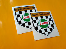 CASTROL liquide Engineering bouclier voiture moto autocollants stickers 2 Off 80mm