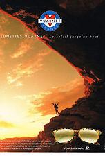 PUBLICITE ADVERTISING 074  1992  VUARNET  pour POUILLOUX PARIS lunettes solaires