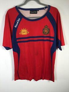 ADF Royal Australian Engineers 1st combat regiments red mens t shirt M Kooga