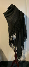 1900's Antique Silk Piano Scarf Fringed Large Scarf  59x61