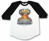 KORN Rok N Roll Explosion White Raglan Jersey Shirt New Official Band GIANT Rock