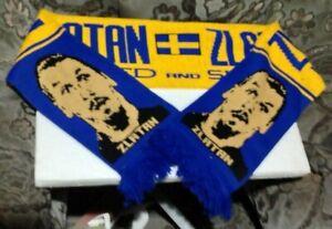 Manchester United Sweden Zlatan Ibrahimovic knitted JACQUARD SCARF - POSTFREE UK