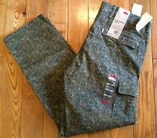NWT Mens LEVIS Green Camo Slim Straight Cargo Pants Size W33 L30 $68