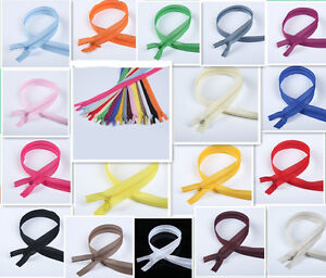 50-100pcs Nylon Invisible Soft tulle Coil Zippers Sewing 22inch (colors of 17)