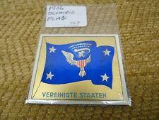 1936 Vereinigte Staaten OLYMPIC FLAG CIGARETTE CARD RARE DIE GROSSE AMERIKA A-16