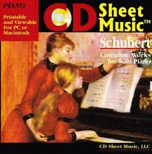 CD Sheet Music: Schubert Piano PC MAC CD complete printable works for solo play!