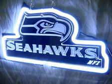 """Seattle Seahawks Neon Light Sign 14""""x7"""" 3D Carved Beer Cave Gift Lamp Bar"""